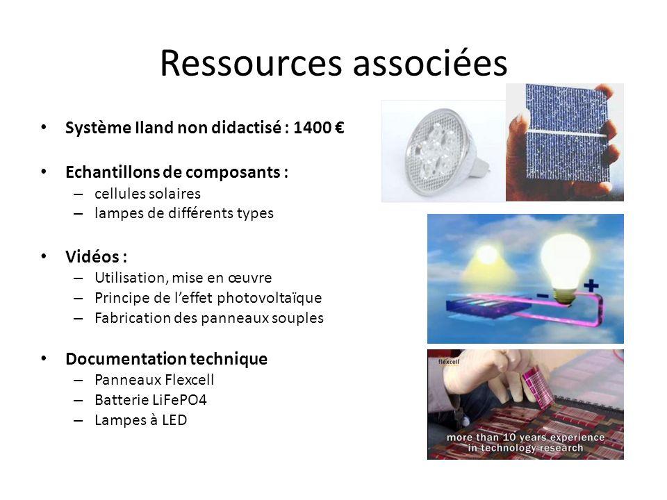 Ressources associées Système Iland non didactisé : 1400 €