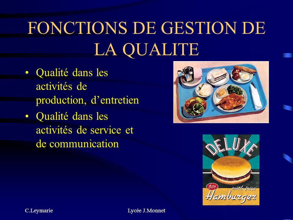 FONCTIONS DE GESTION DE LA QUALITE