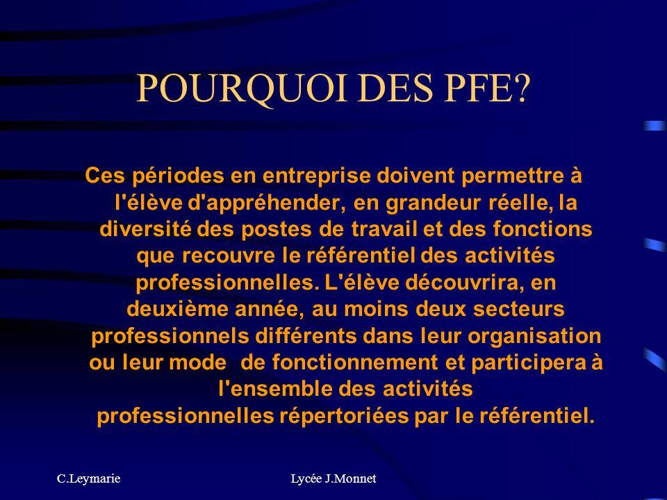 POURQUOI DES PFE
