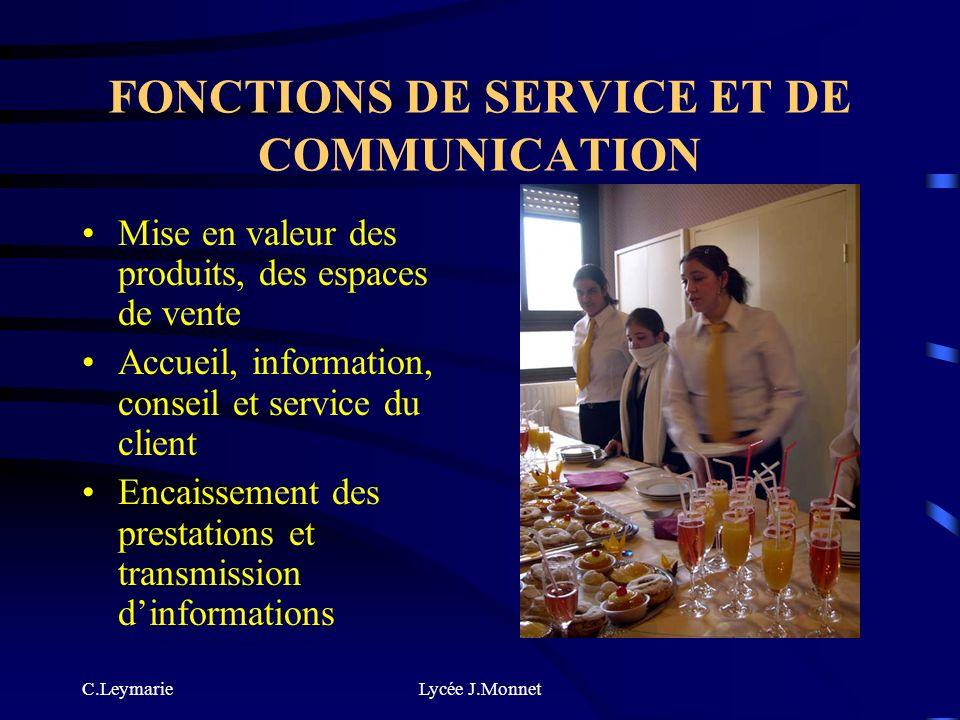 FONCTIONS DE SERVICE ET DE COMMUNICATION