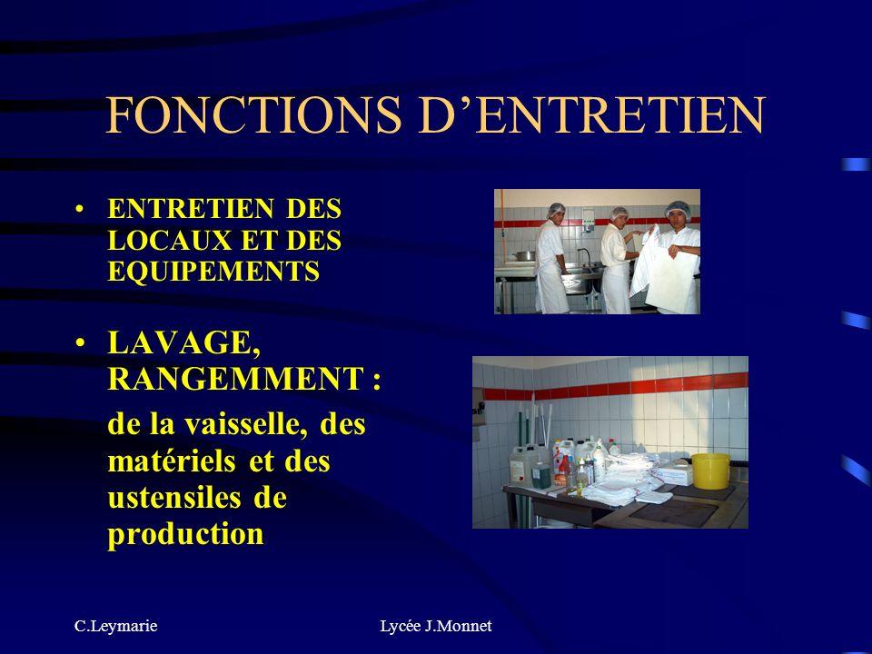 FONCTIONS D'ENTRETIEN