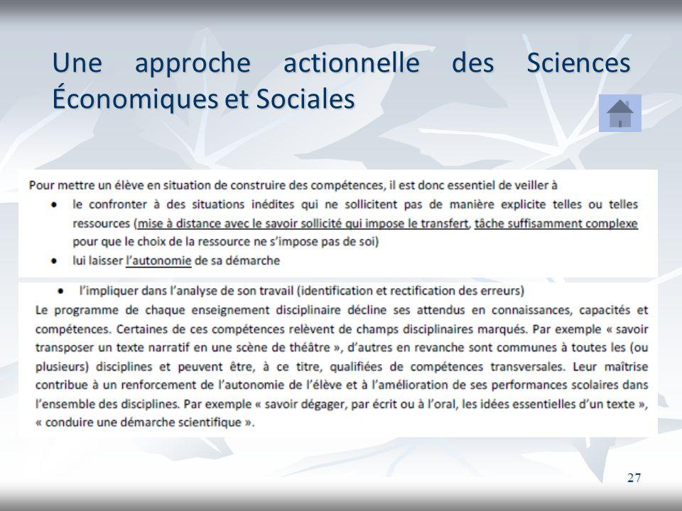 Une approche actionnelle des Sciences Économiques et Sociales