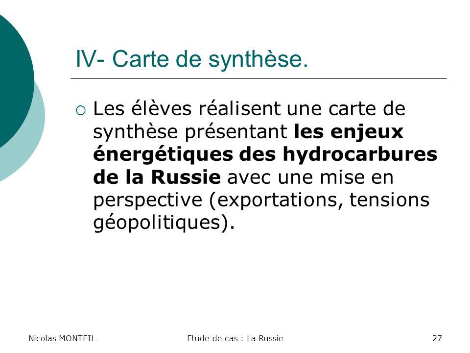 Nicolas MONTEIL IV- Carte de synthèse.