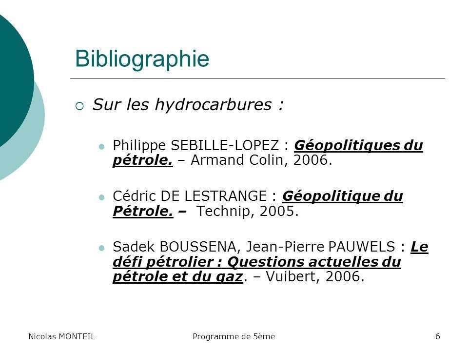 Bibliographie Sur les hydrocarbures :