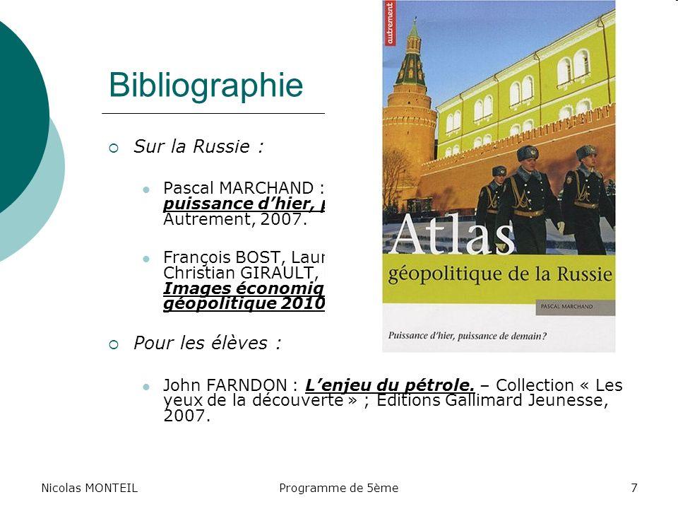 Bibliographie Sur la Russie : Pour les élèves :