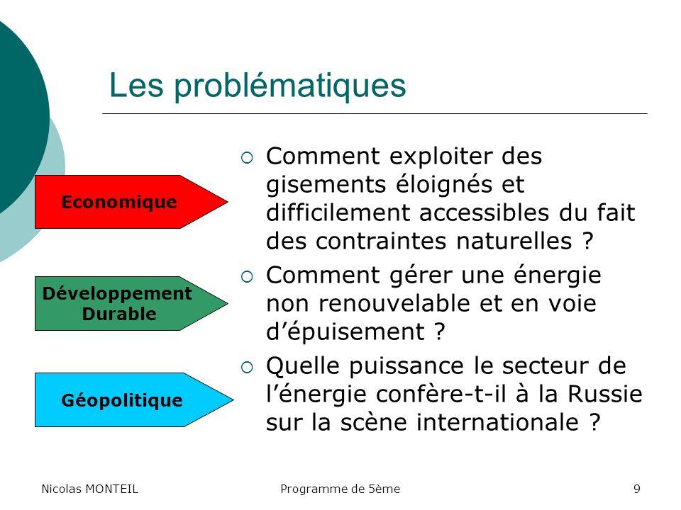Nicolas MONTEIL Les problématiques. Comment exploiter des gisements éloignés et difficilement accessibles du fait des contraintes naturelles