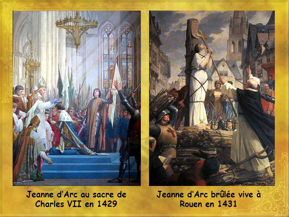 Jeanne d'Arc au sacre de Charles VII en 1429