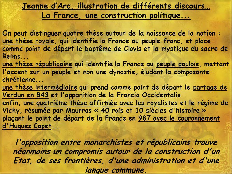Jeanne d'Arc, illustration de différents discours…