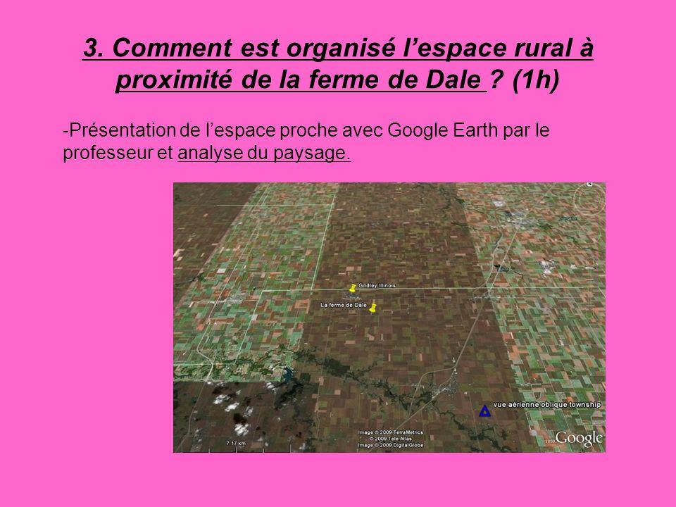 3. Comment est organisé l'espace rural à proximité de la ferme de Dale