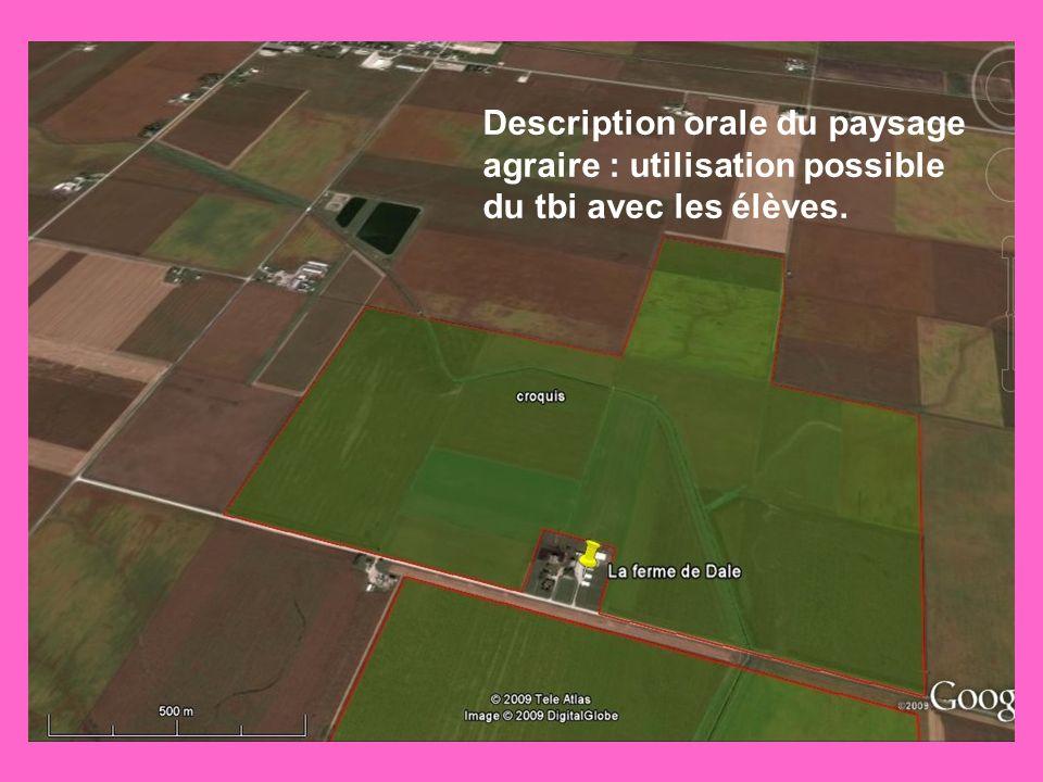 Description orale du paysage agraire : utilisation possible du tbi avec les élèves.