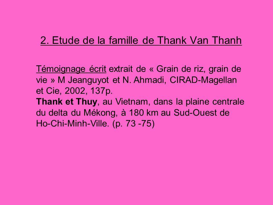 2. Etude de la famille de Thank Van Thanh