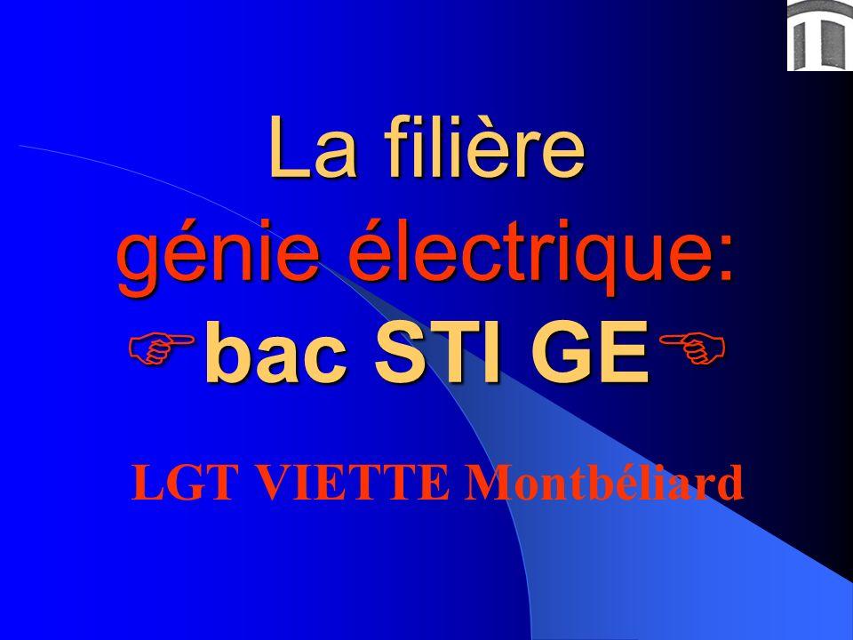 La filière génie électrique: bac STI GE