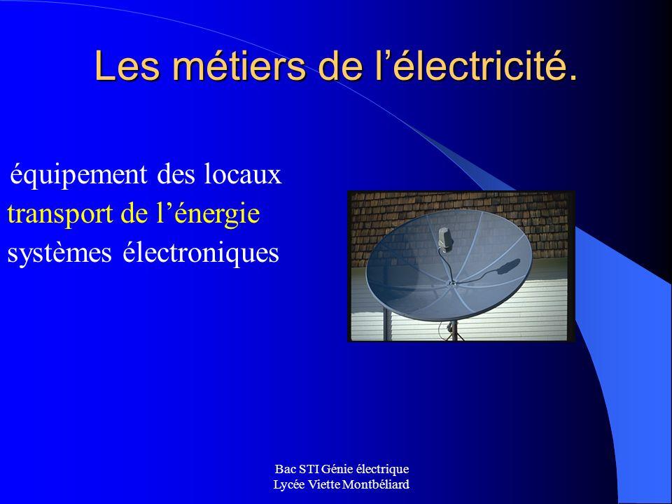 Les métiers de l'électricité.