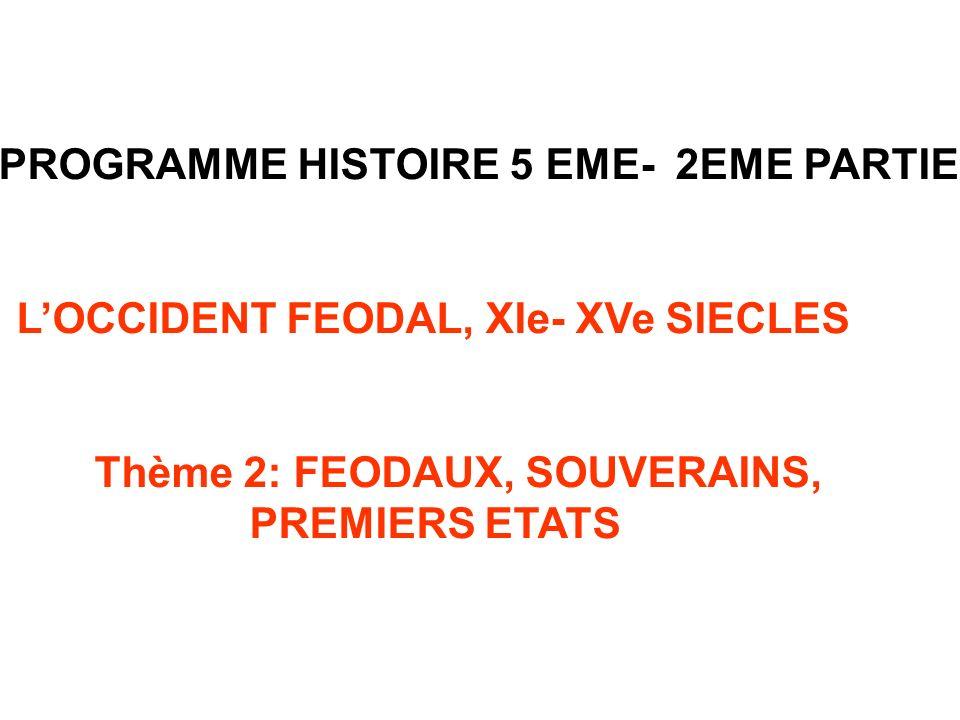 PROGRAMME HISTOIRE 5 EME- 2EME PARTIE