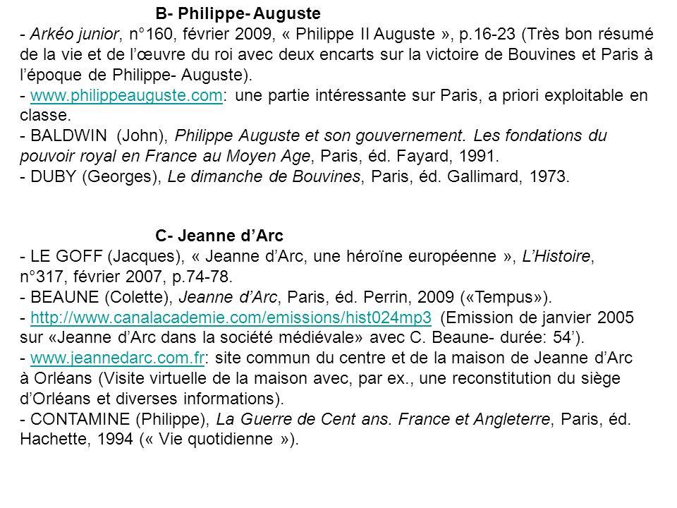 B- Philippe- Auguste