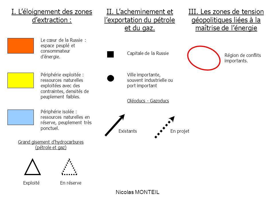 I. L'éloignement des zones d'extraction :