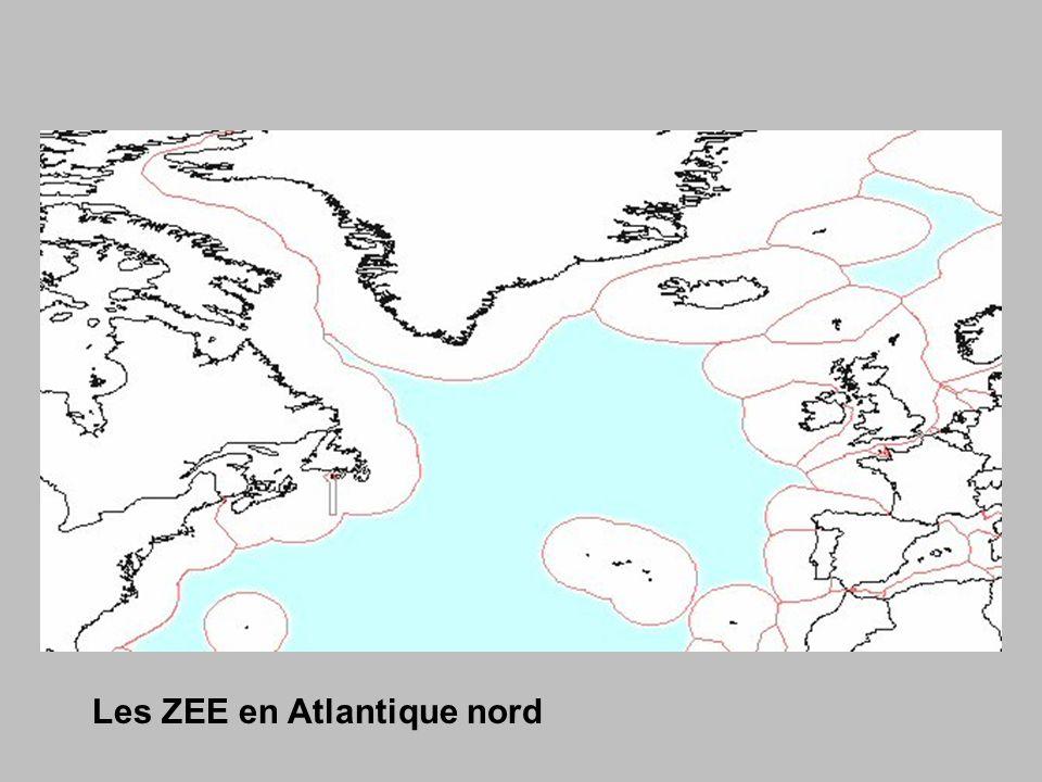 Les ZEE en Atlantique nord