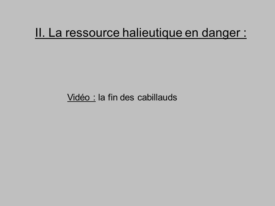 II. La ressource halieutique en danger :