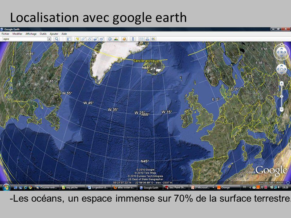 Localisation avec google earth