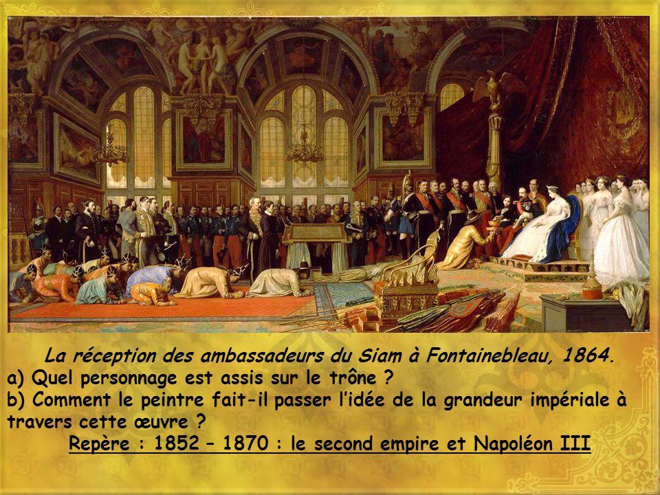 La réception des ambassadeurs du Siam à Fontainebleau, 1864.