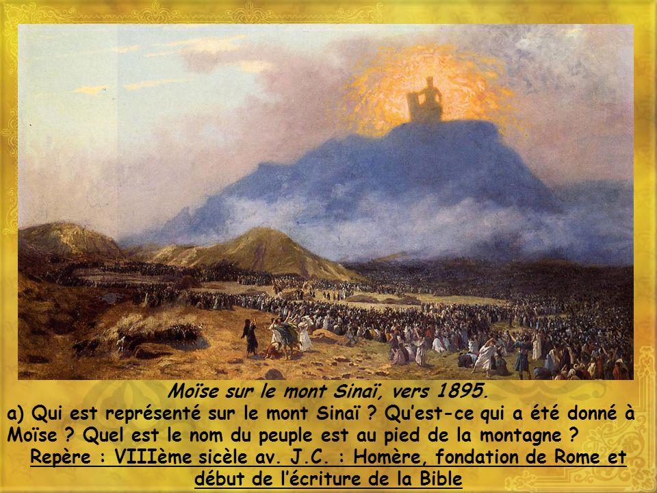 Moïse sur le mont Sinaï, vers 1895.
