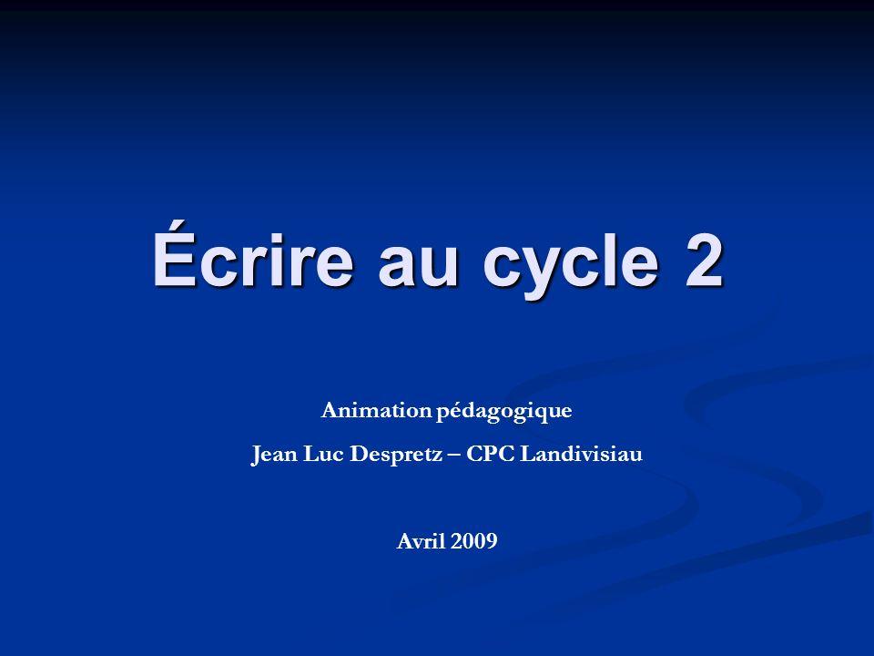 Animation pédagogique Jean Luc Despretz – CPC Landivisiau