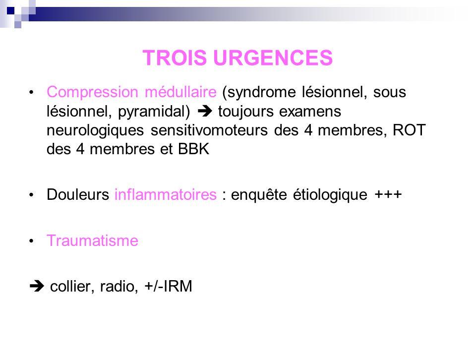 TROIS URGENCES