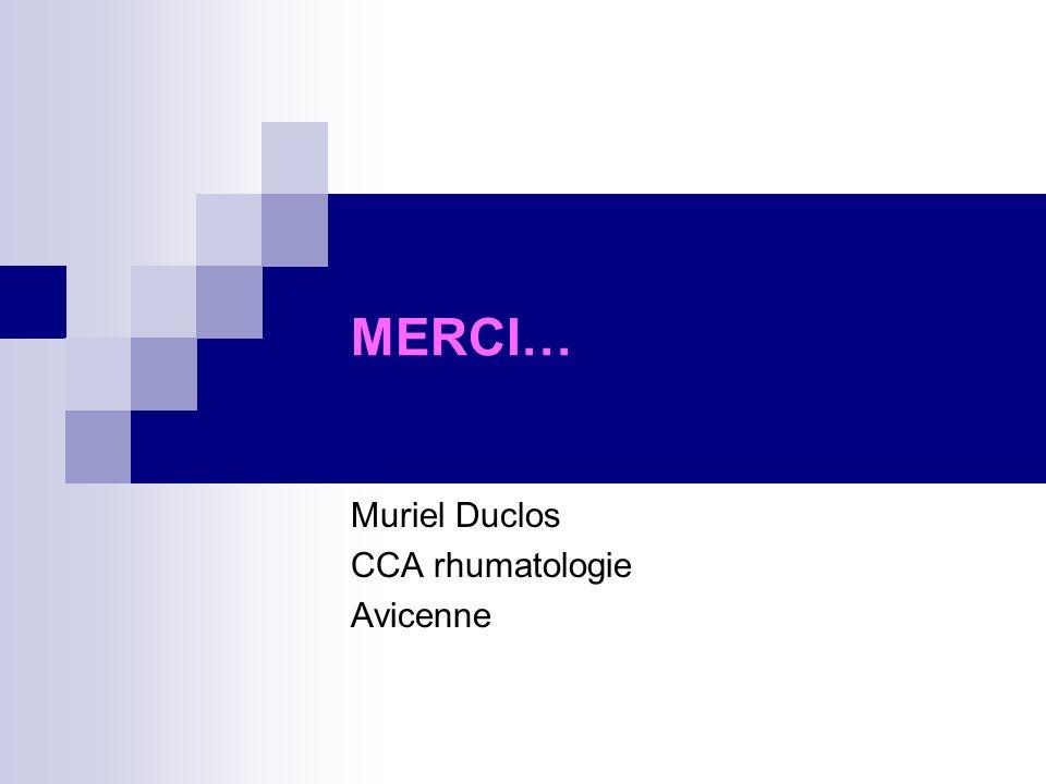 Muriel Duclos CCA rhumatologie Avicenne
