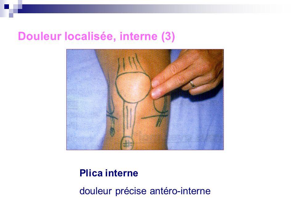 Douleur localisée, interne (3)