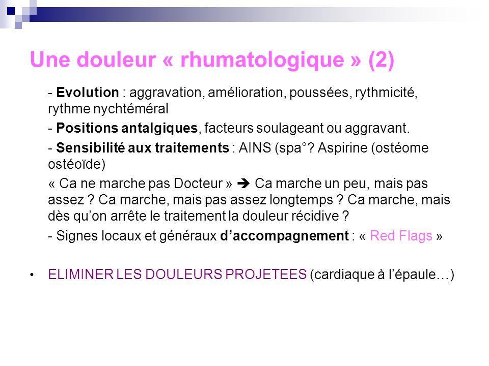 Une douleur « rhumatologique » (2)