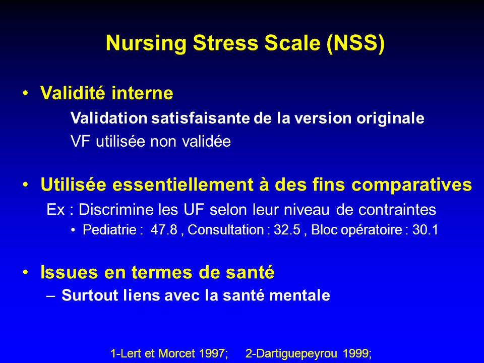 Nursing Stress Scale (NSS)