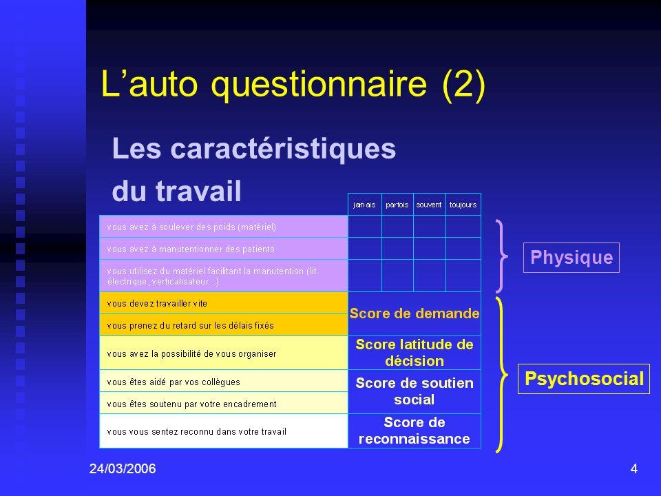 L'auto questionnaire (2)