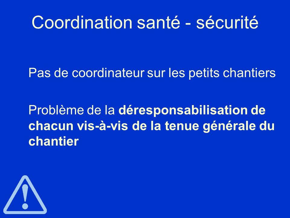 Coordination santé - sécurité