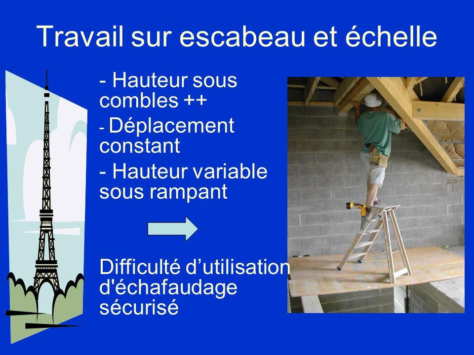 Travail sur escabeau et échelle