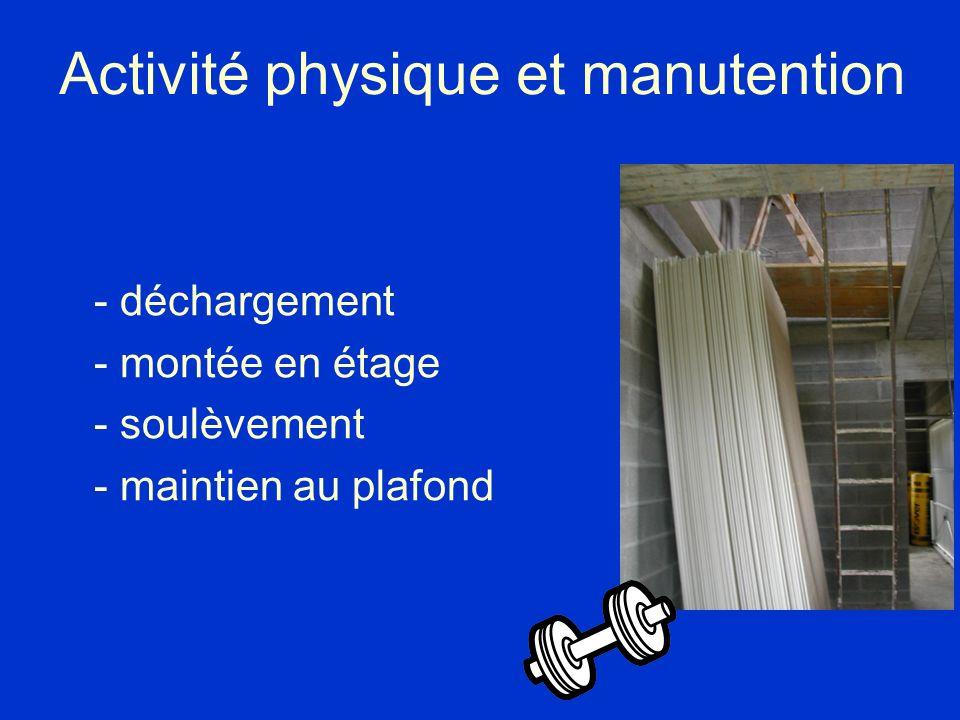 Activité physique et manutention