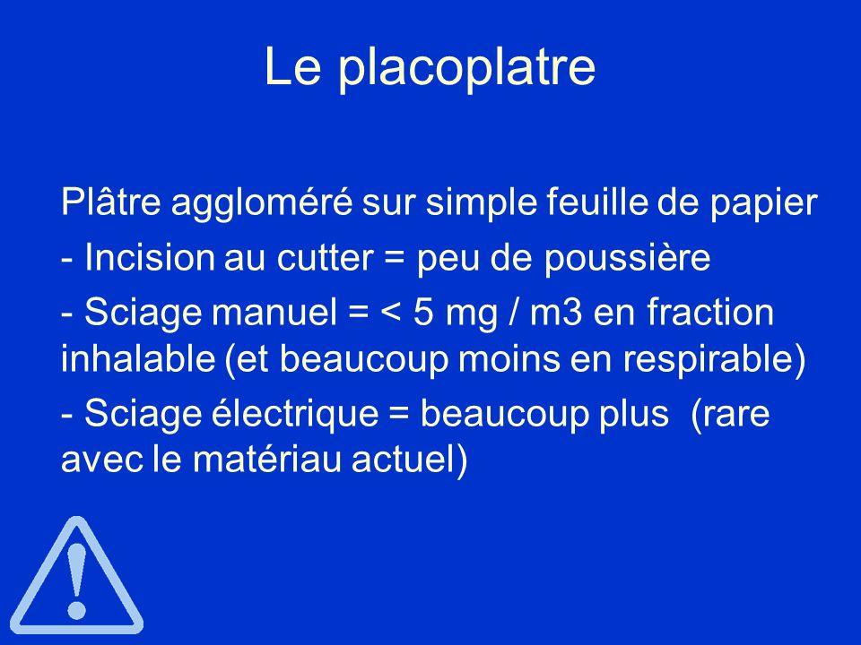 Le placoplatre - Incision au cutter = peu de poussière