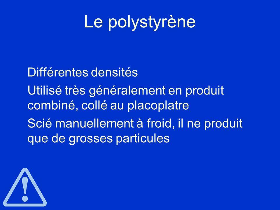 Le polystyrène Différentes densités