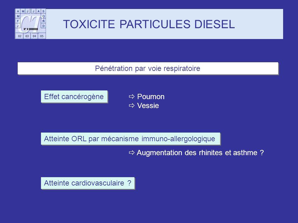 TOXICITE PARTICULES DIESEL