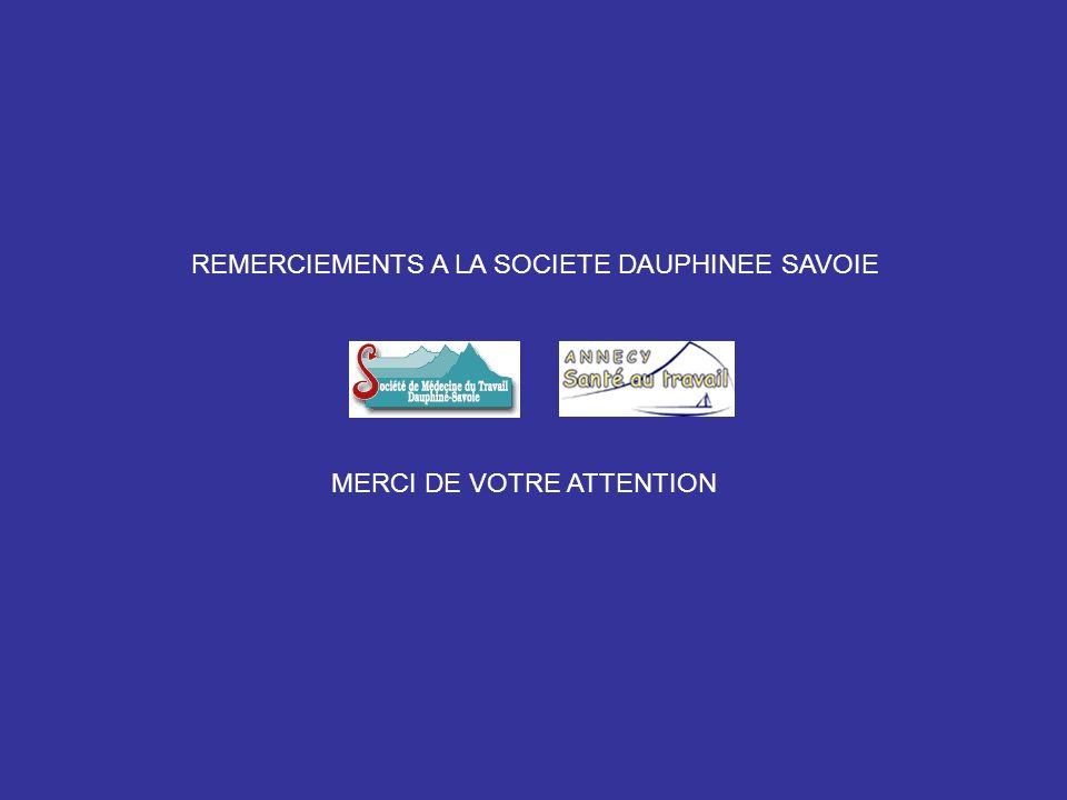 REMERCIEMENTS A LA SOCIETE DAUPHINEE SAVOIE
