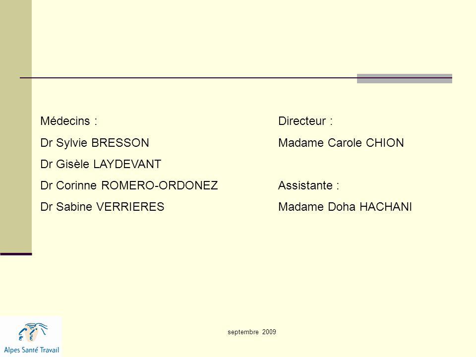 Dr Sylvie BRESSON Madame Carole CHION Dr Gisèle LAYDEVANT