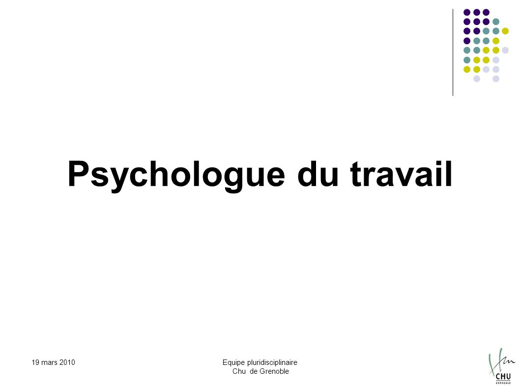 Psychologue du travail