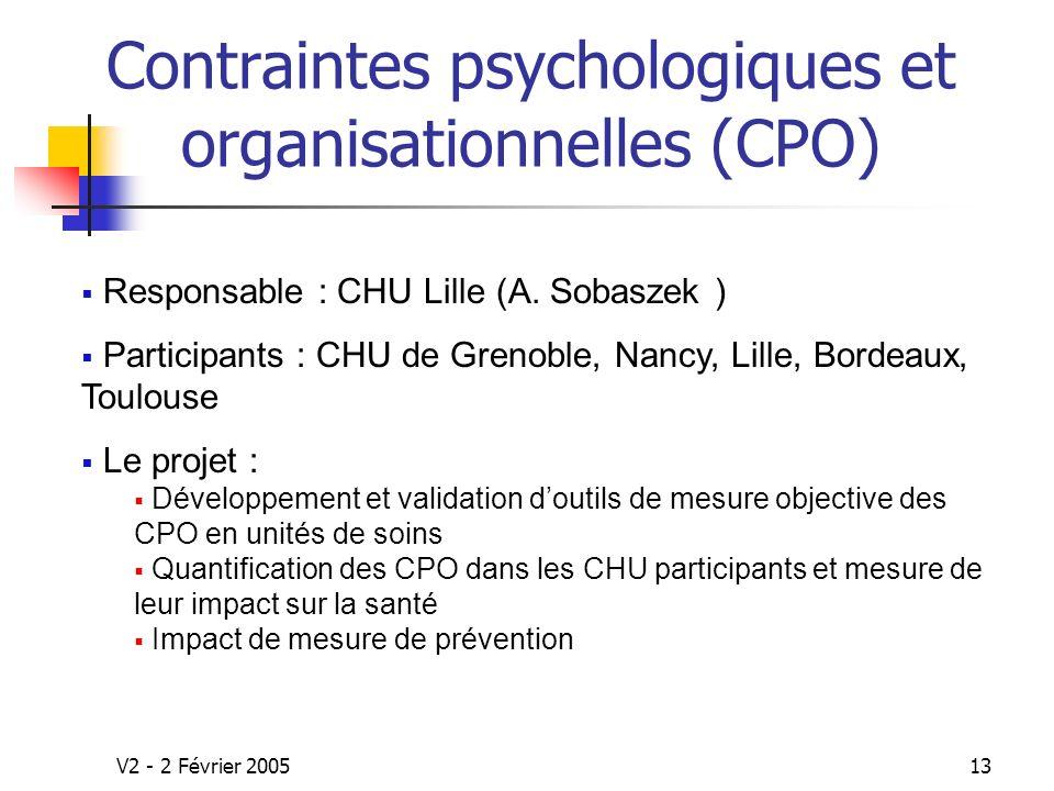 Contraintes psychologiques et organisationnelles (CPO)