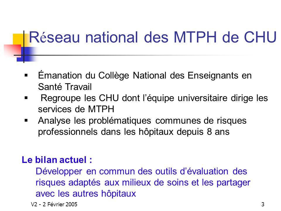 Réseau national des MTPH de CHU