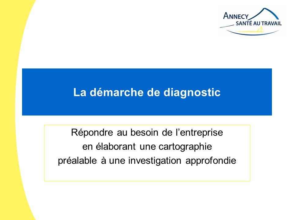 La démarche de diagnostic