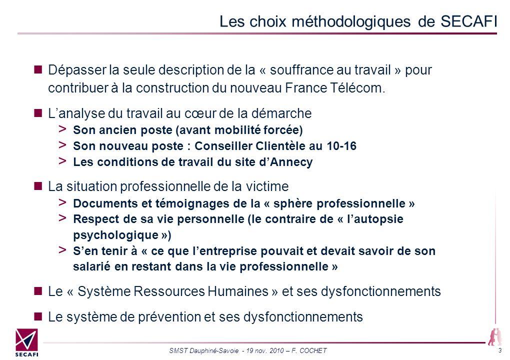 Les choix méthodologiques de SECAFI