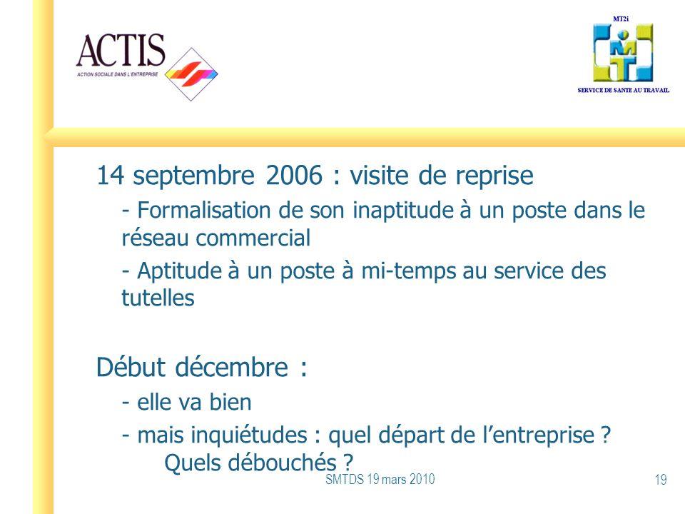 14 septembre 2006 : visite de reprise