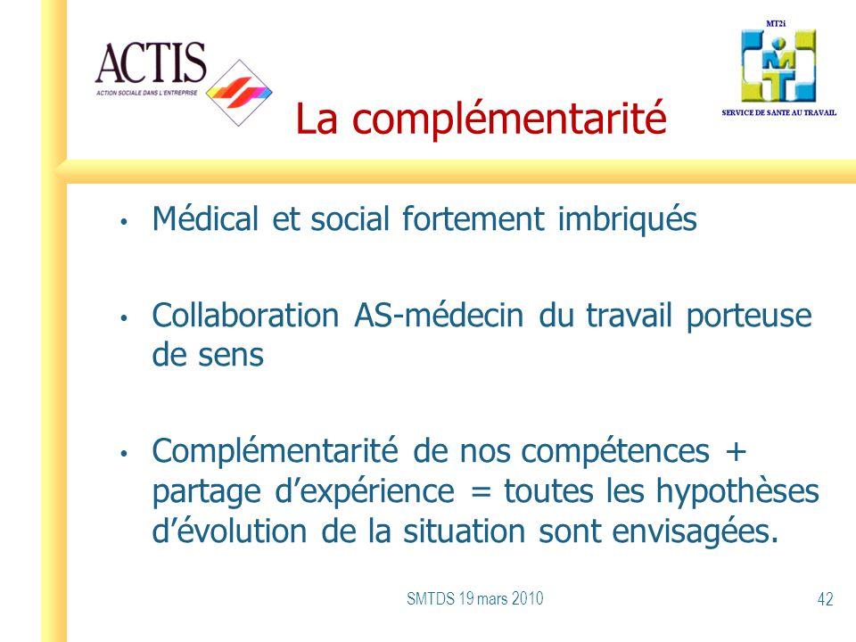 La complémentarité Médical et social fortement imbriqués