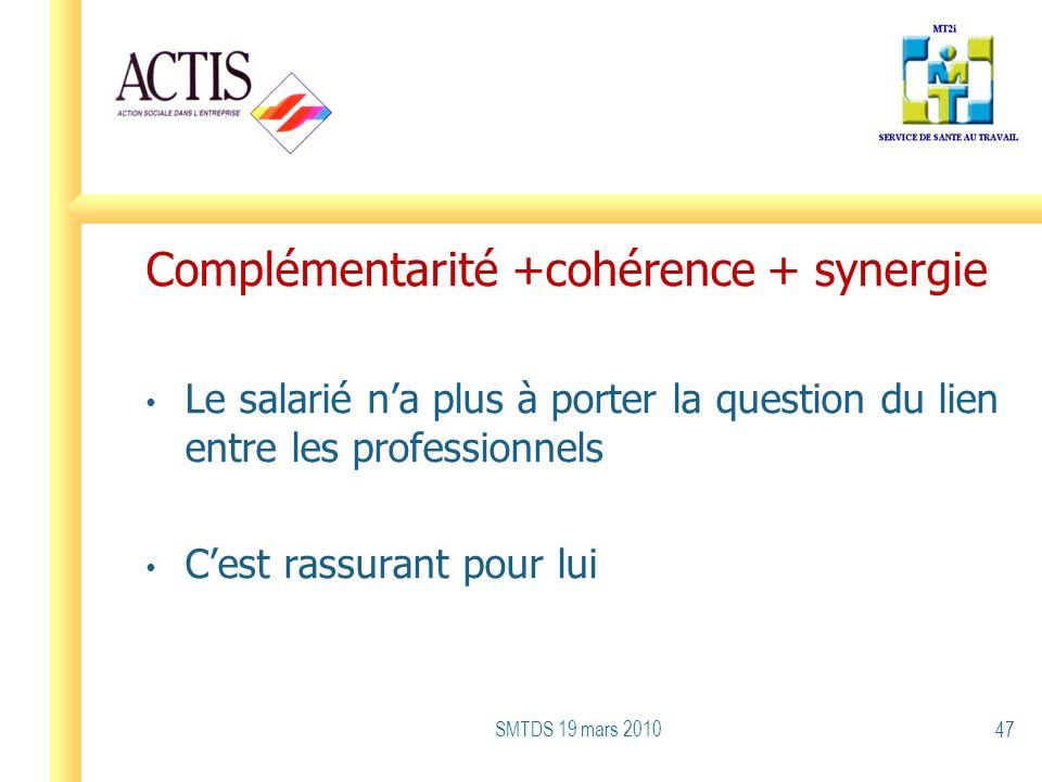 Complémentarité +cohérence + synergie