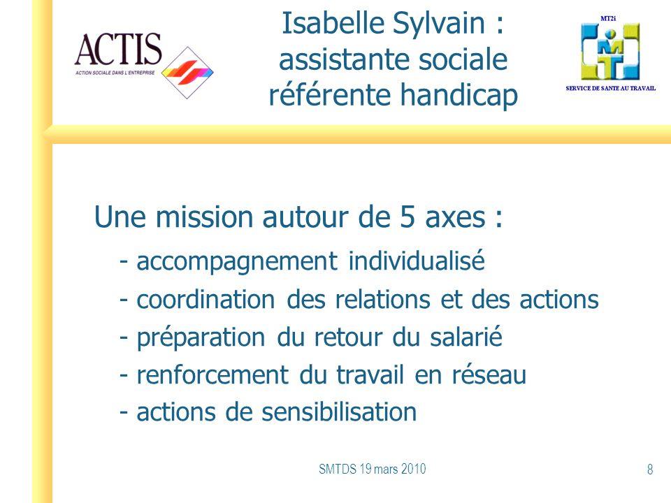 Isabelle Sylvain : assistante sociale référente handicap