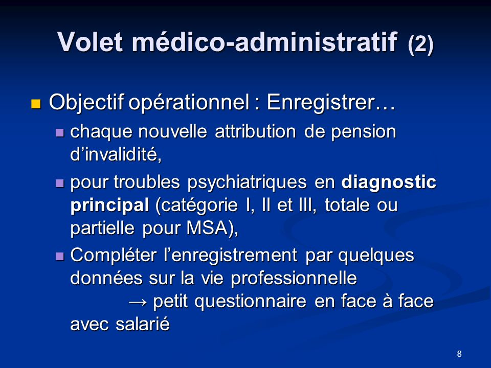 Volet médico-administratif (2)